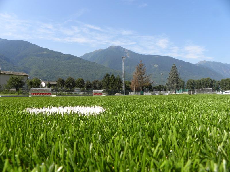 Realizzazione campo da calcio a in erba sintetica a sondrio