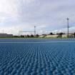Realizzazione pavimentazione per pista di atletica, Pista d'atletica. CAGLIARI, Selargius